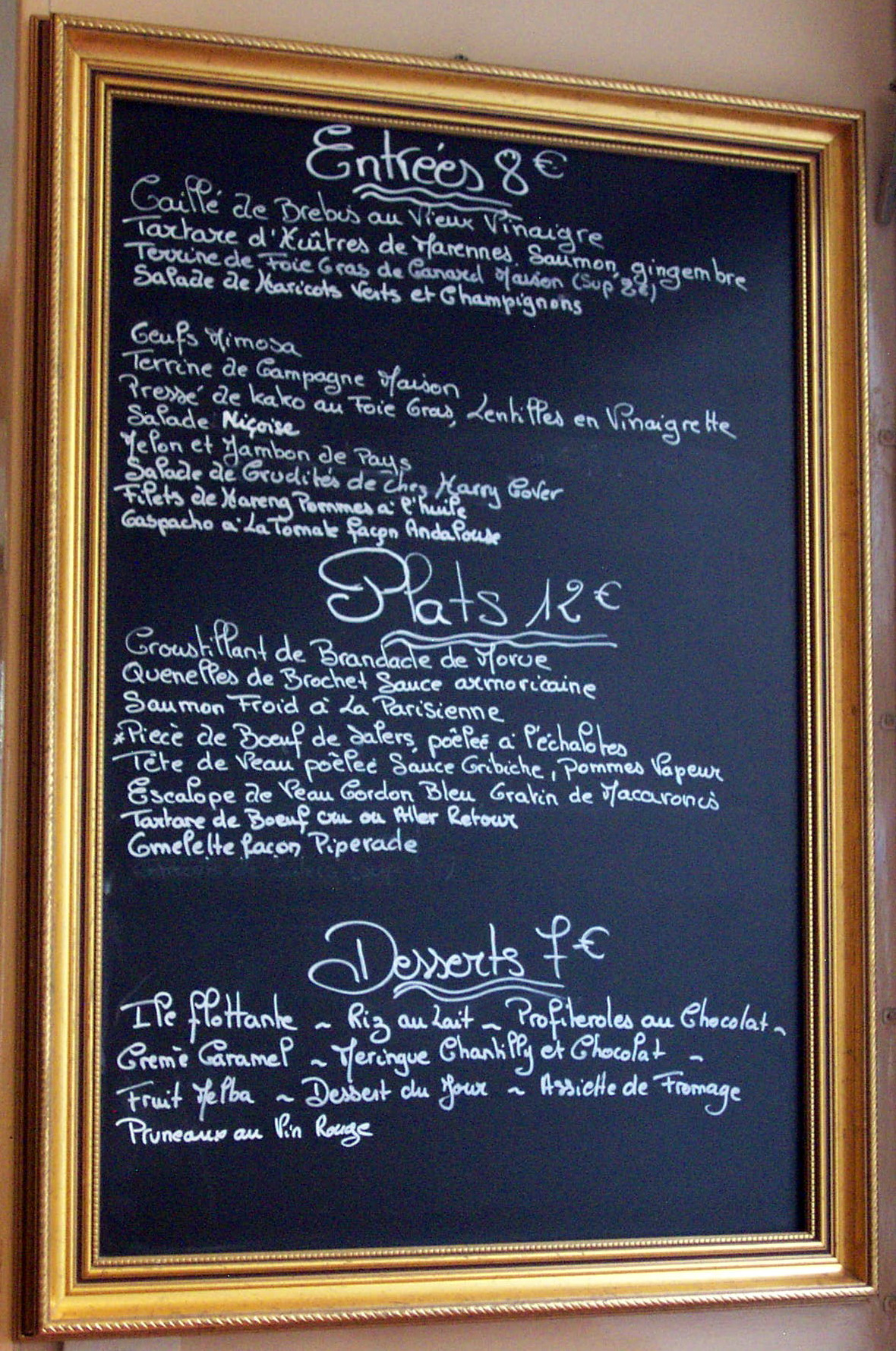 Cafe Constant Menu Prices